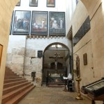 Reconstructed stairs on left led to Constantine's Holy Sepulchre church (Seetheholyland.net)