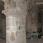 Remains of main entrance to Constantine's church, in Zalatimo's sweetshop (Seetheholyland.net)
