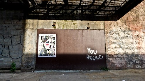street art by dain and you would in chinatown, NYC