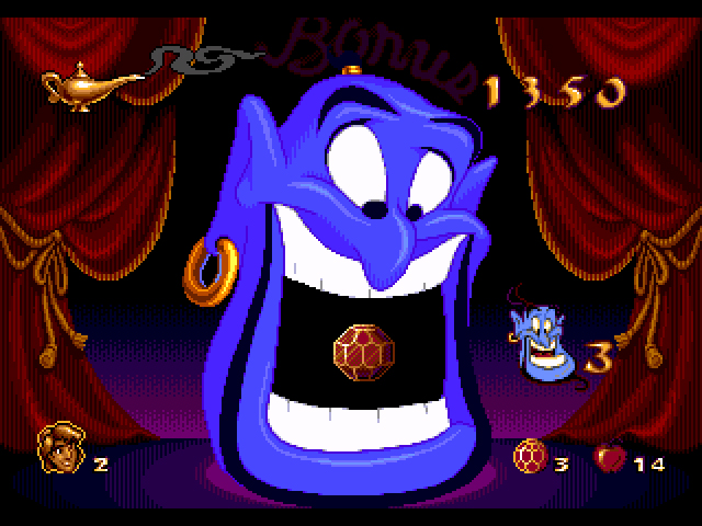 Bonus Aladdin Megadrive