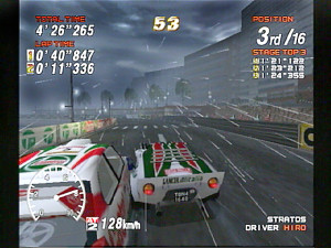 Rain lashes down, obscurring views - another nice feature added to the franchise