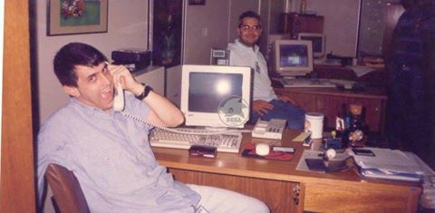 Alexandre working at TecToy in the 90's