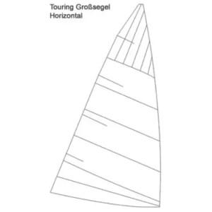 Regatta-Großsegel; Square-Tuch, Horizontalschnitt