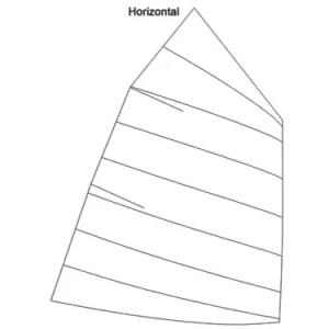 Produktbild Optimist Großsegel Horizontalschnitt