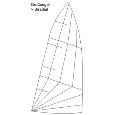 Produktbild ZK10 Großsegel Biradial