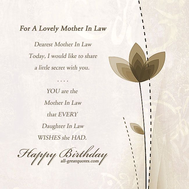 Wonderful Mother In Law Birthday Wishes Segerios Com