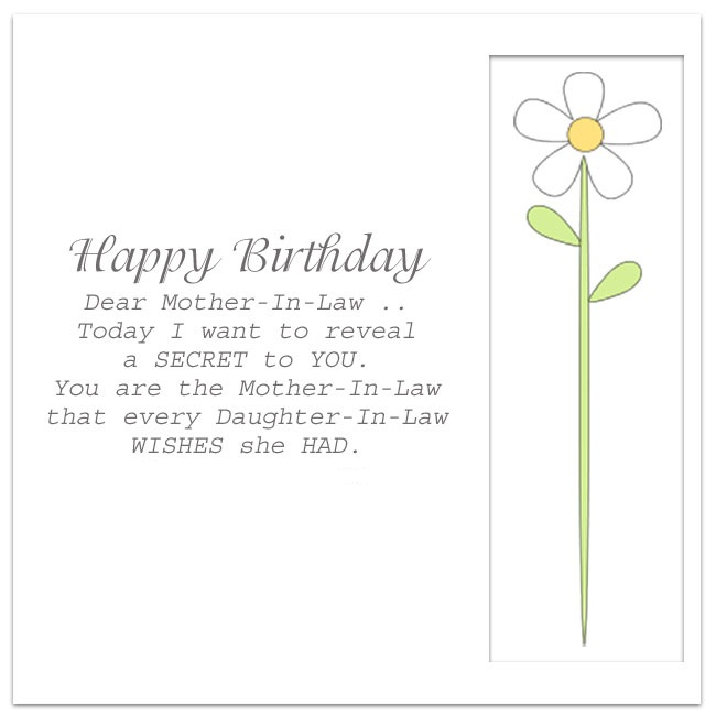 Mother In Law Birthday Poems And Quotes Segerios Com