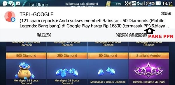 Gagal Top Up Mobile Legend?