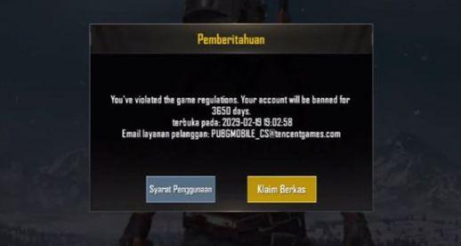 banned 10 tahun PUBG Mobile