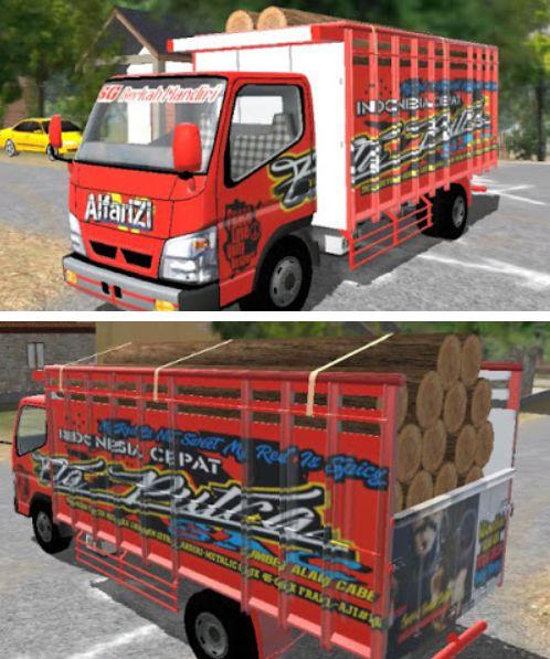 Livery Alfarizi Truck Merah