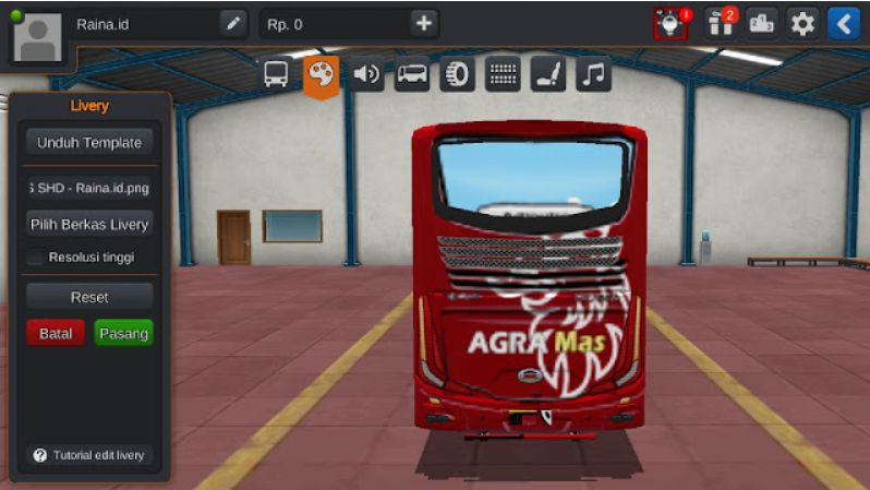import livery bussid