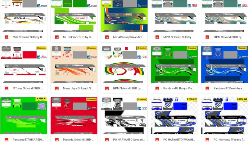 download livery pack bussid