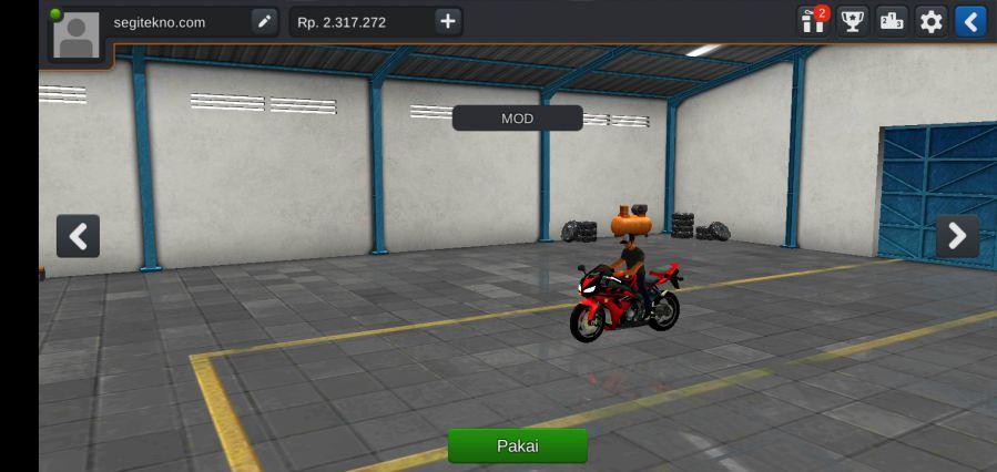 MOD Bussid Moge Honda CBR600RR