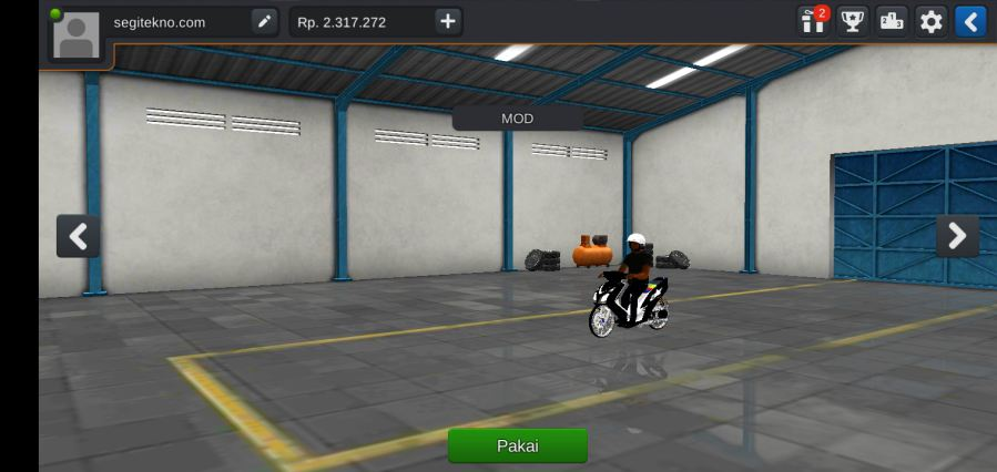 Mod bussid Motor mio mberr modif