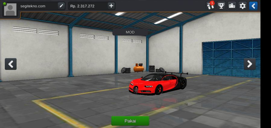 Download Mod Bussid Mobil bugatti