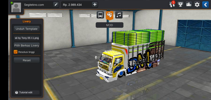 download mod bussid truck