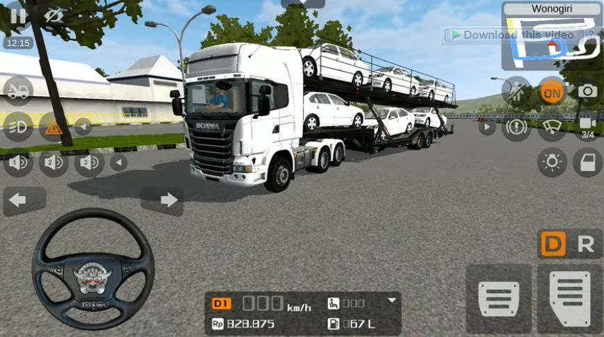 Trailer Scania Angkut mobil