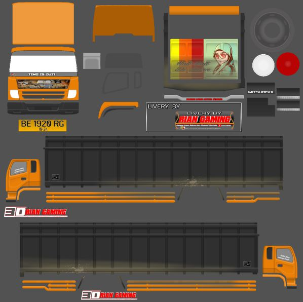 livery truck bussid