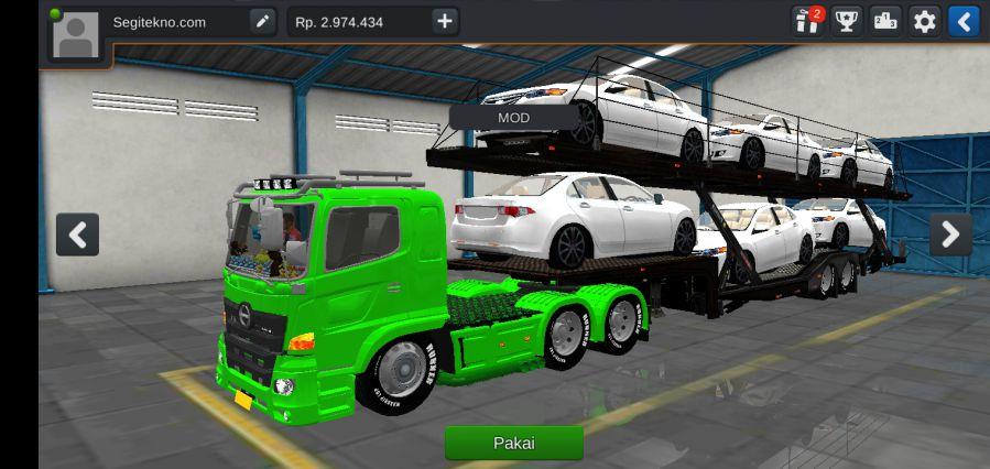 Mod Bussid Truck trailer