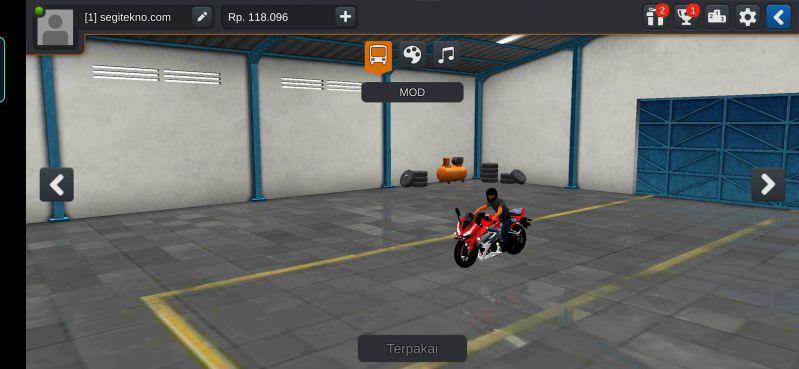 Mod Bussid CBR150R Streetfire Merah