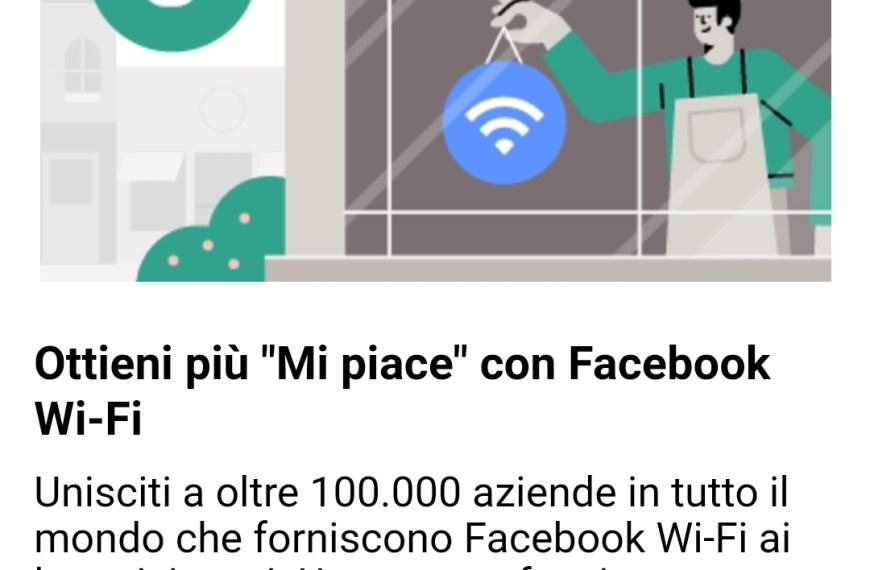 Adesso arriva il wifi di fb
