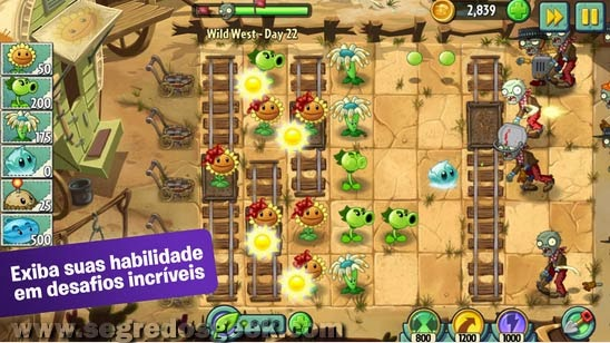 Plants vs. Zombie 2 para Android.