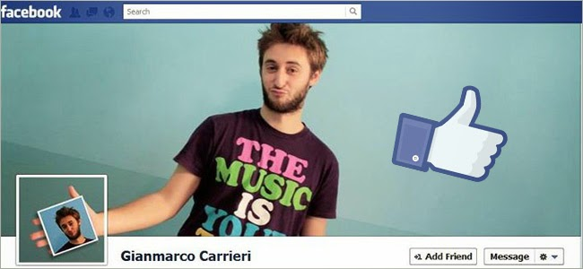 capa do Facebook.