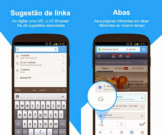 UC Browser 9.7 para Android.