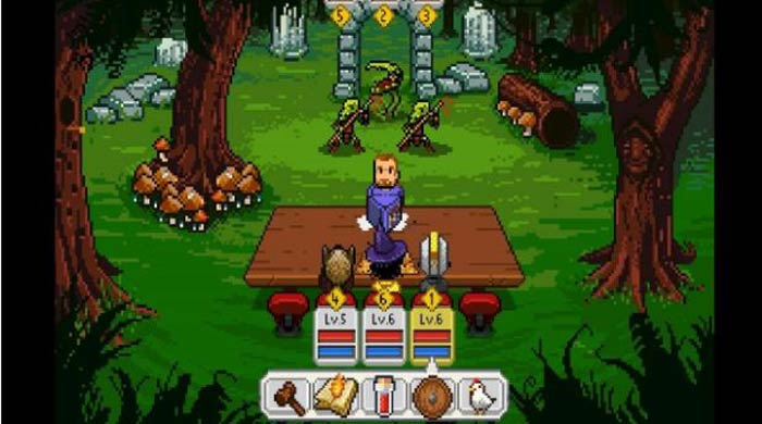 Melhor jogo RPG Android, Knights of Pen and Paper +1.