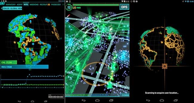 jogo multiplayer para Android Ingress.