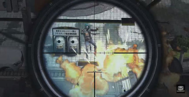 Jogo multiplayer para Android Modern Combat 5: Blackout.