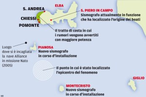 Il mistero dei boati nel mare tra Pianosa e Montecristo