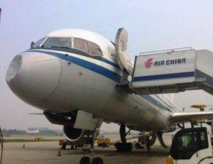 """Aereo della """"Air China"""" colpito da un UFO"""