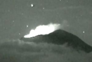 L'Ufo che entra nel vulcano, in Messico