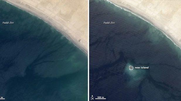 La NASA cattura le prime immagini satellitari dell'isola emersa nel Mar Arabico