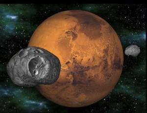 Riprese da Curiosity Phobos e Deimos le due lune di Marte