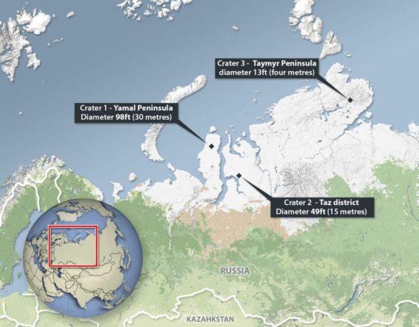 Altri due nuovi crateri spuntano in Siberia