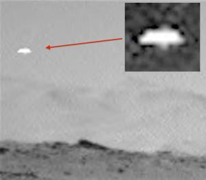 Disco volante fotografato su Marte