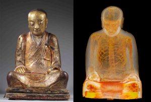 Scoperta una mummia nella statua del Buddha