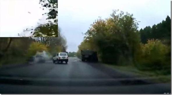 Incidente stradale causato da un Ufo