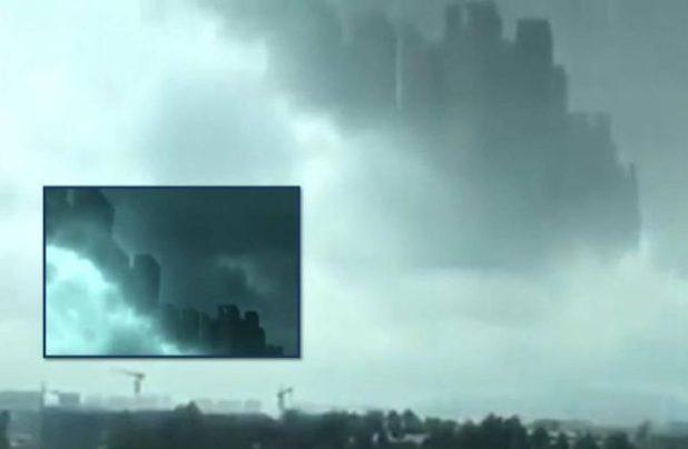 Misteriosa citta appare sopra le nuvole in Cina