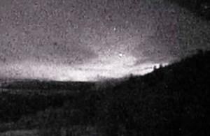 Telecamera riprende le luci di Hessdalen