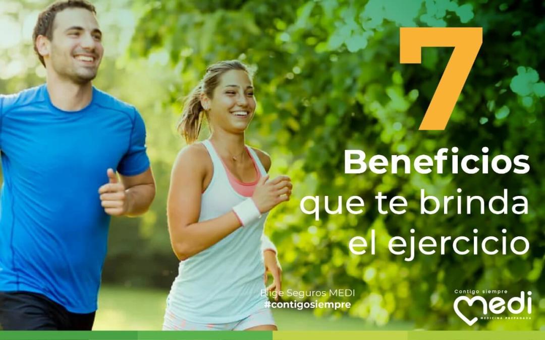 7 beneficios que te brinda el ejercicio. Mejora tu vida haciendo actividad física siguiendo esta lista. Blog MEDI Ecuador.