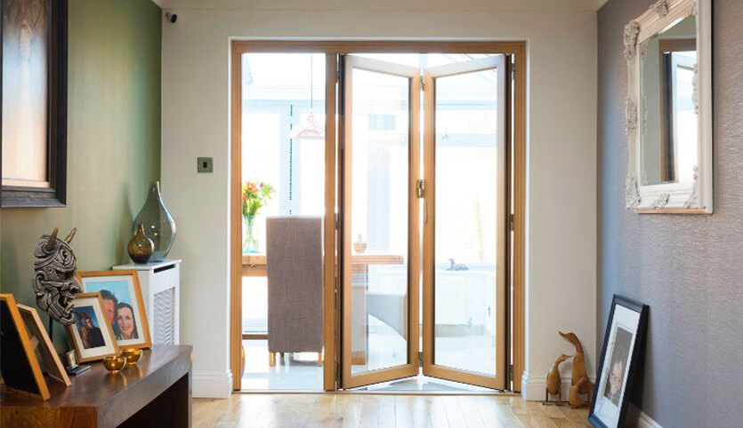 the smallest opening for bifold doors