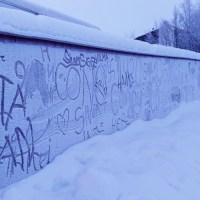 Schneegraffitti