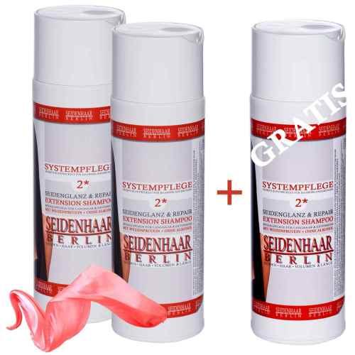 Extension Shampoo Seidenglanz & Repair - Aktion 3 für 2. Für Extensions und Langhaar.