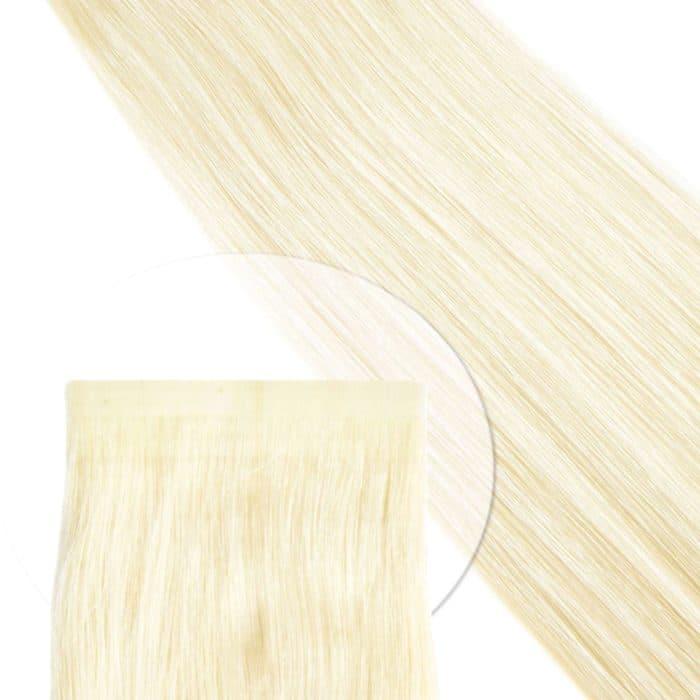 Tape Extensions von Seidenhaar Berlin - Hochwertige Echthaar Haarverlängerungen in Remy-Qualität - Farbe: platin-blond - fast weißblond #60A