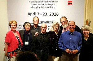 Riffe Gallery Opening with Winding Road Exhibit with Donna Collins, Yan Sun, John Taylor-Lehman, Alan Cottrill, Susan Gottlieb, Michael Seiler, Paul Emory, and Mary Gray.