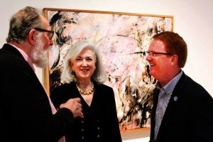 Michael Seiler with Susan Gottlieb, and Brian Wagoner at the Riffe Gallery opening with the Winding Road A to Z.