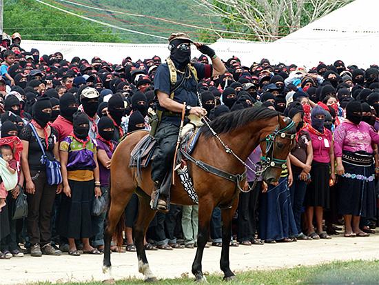 IMAGE: Subcomandante Marcos in La Realidad, Zagato, 2014
